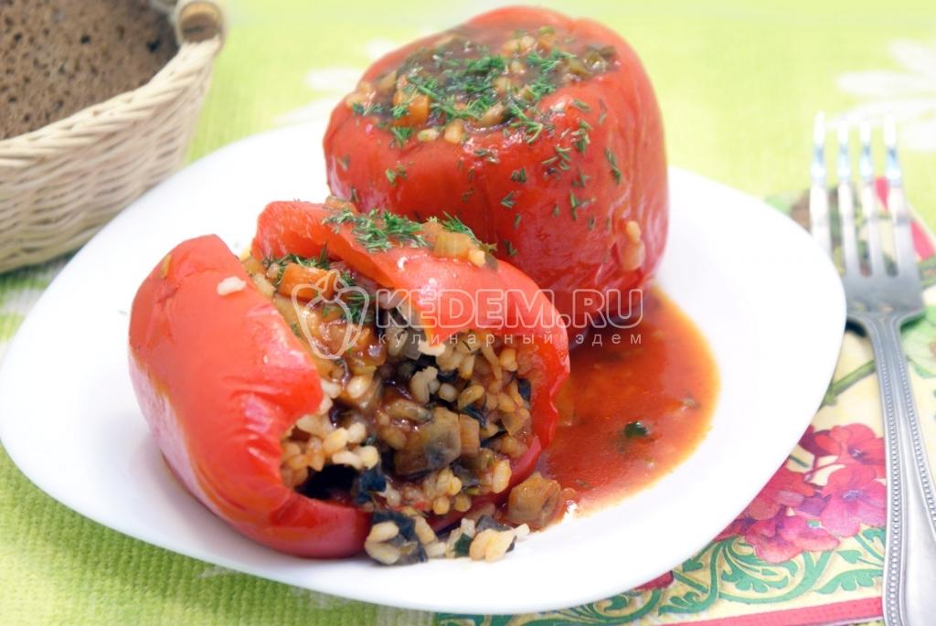 Перец фаршированный грибами рецепт постный