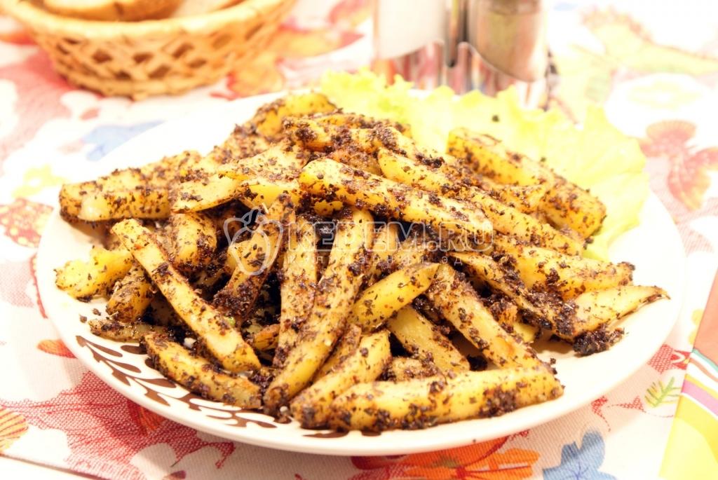 приготовить картофельные дольки в духовке рецепт