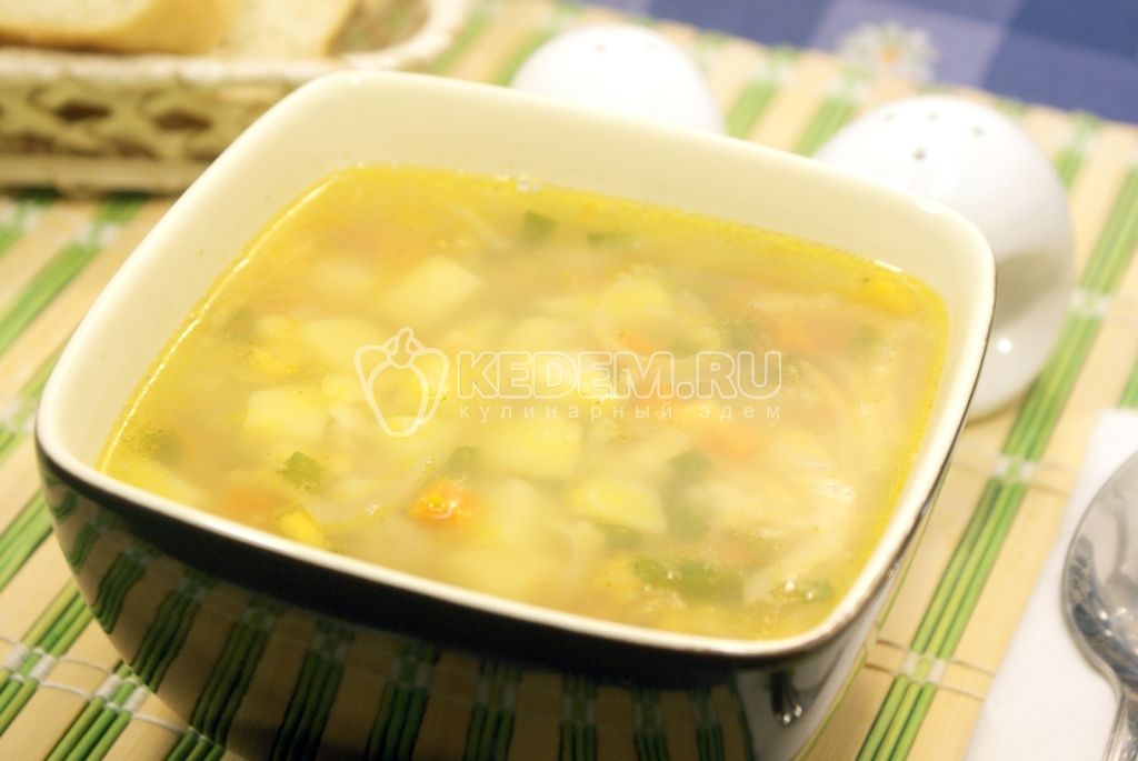 вкусный суп с овощами рецепт