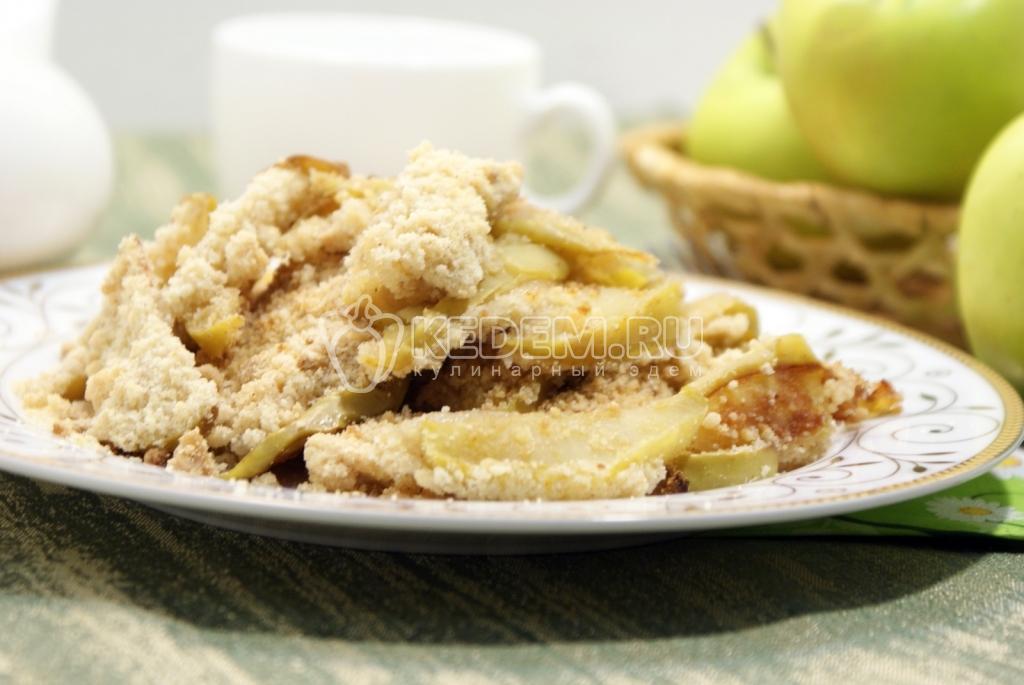 яблочные дольки в духовке рецепт