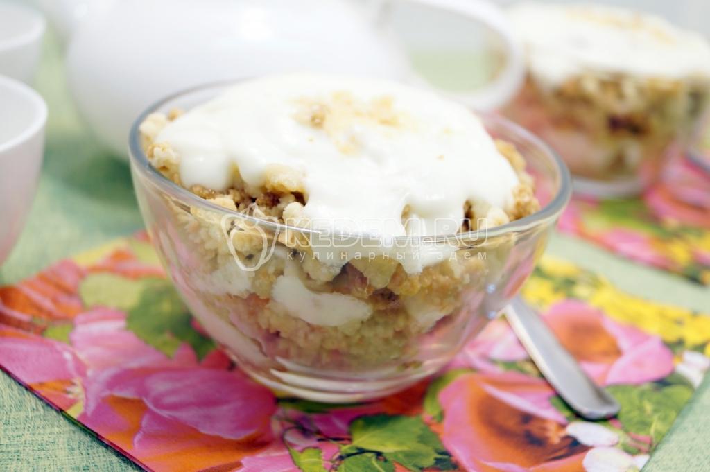 Десерт со сливками и желатином