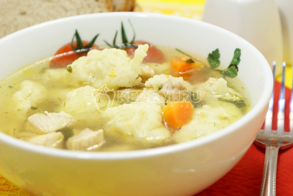 суп с клецками все рецепты с фото