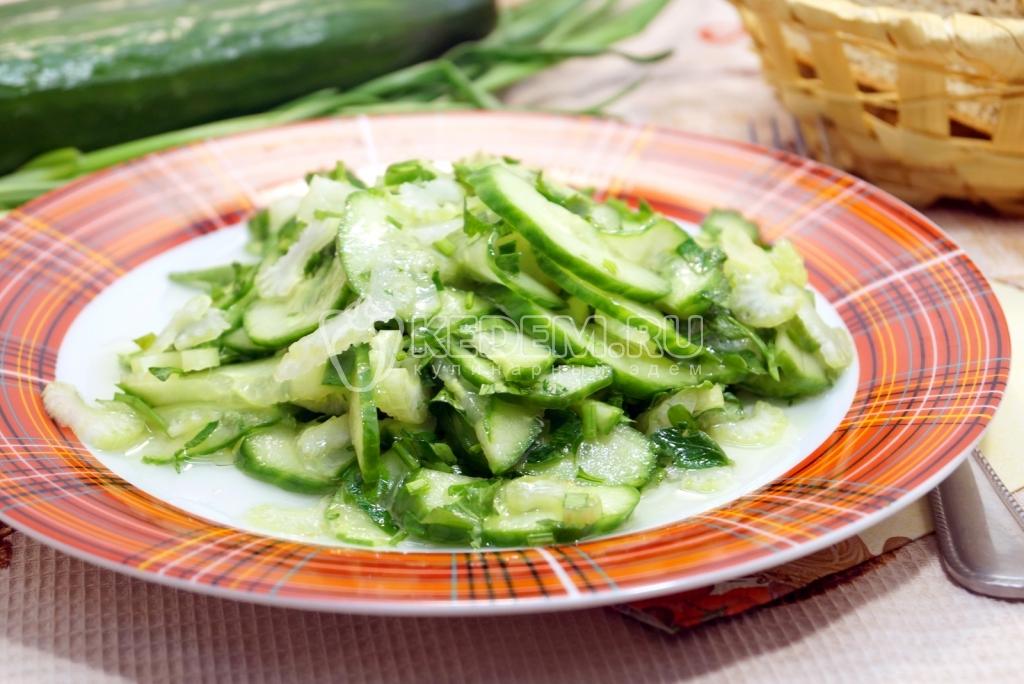 рецепт салата из сельдерея с курицей