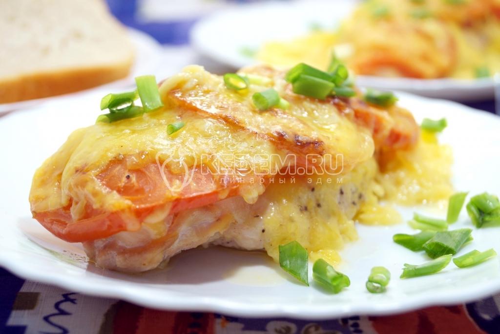 Курица с помидорами и сыром фото рецепт пошаговый