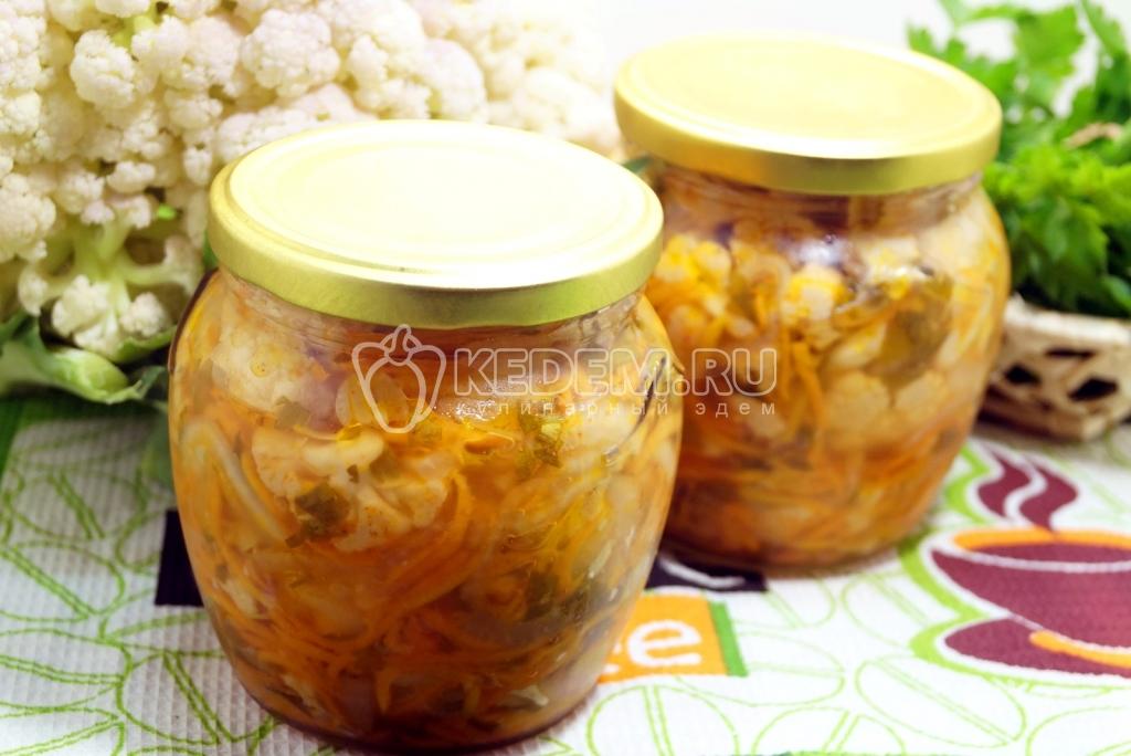 рецепты заготовок на зиму цветной капусты