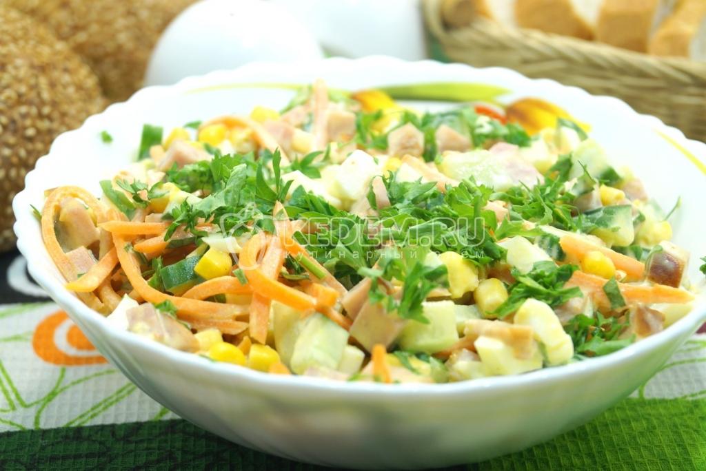 свежие салаты с мясом рецепты с фото