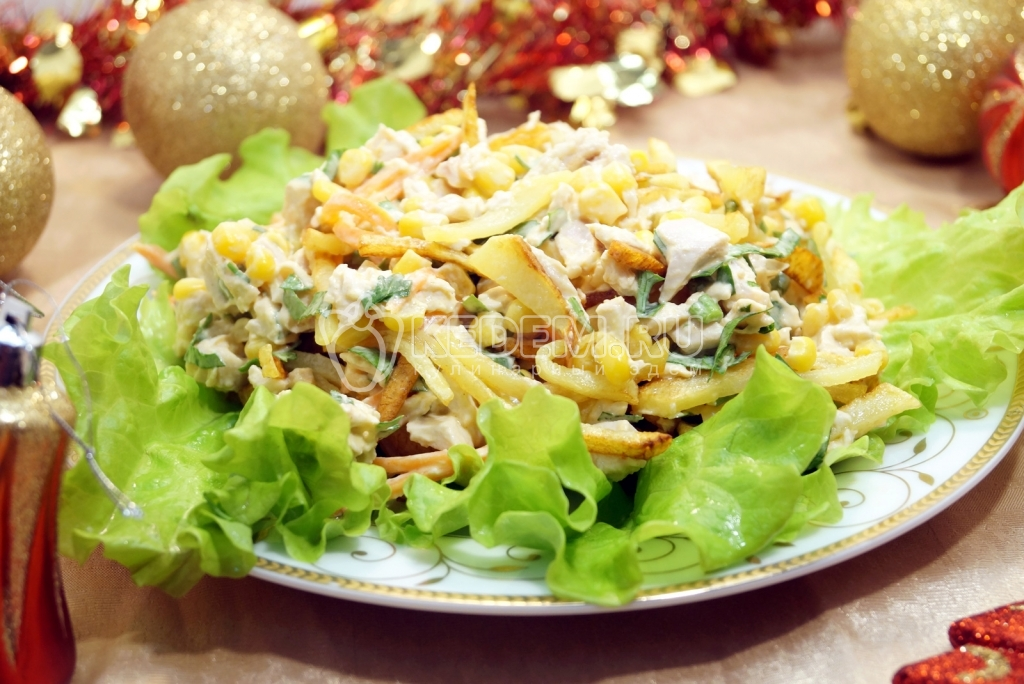 постные салаты на новый год рецепты с фото