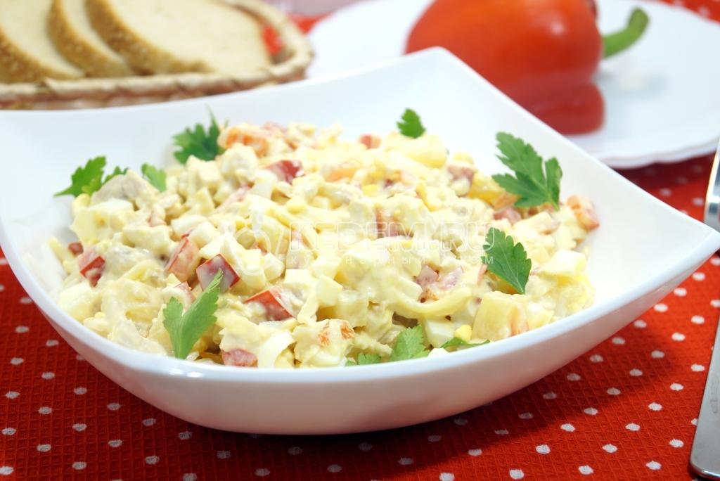 Салаты с курицей и ананасами рецепты простые и вкусные