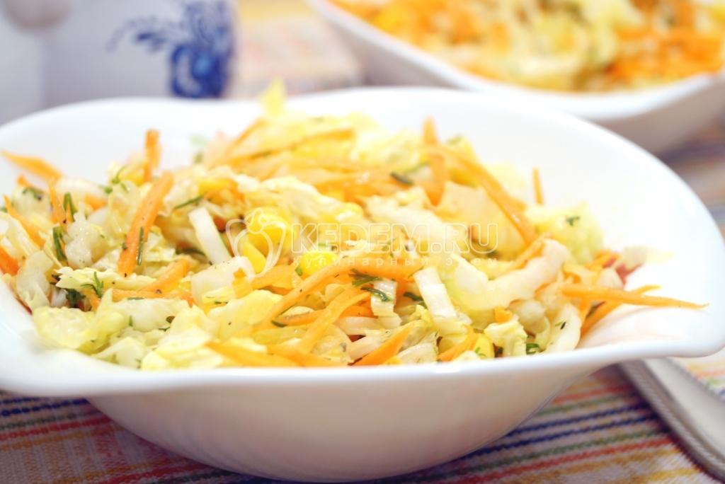 пекинская капуста на зиму салат