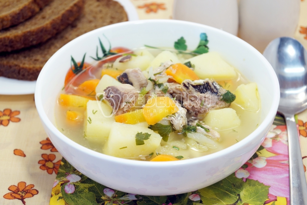 пошаговый рецепт суп с консервами