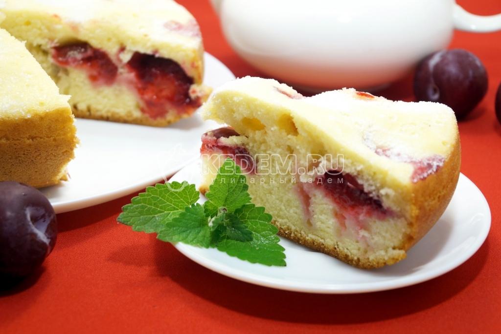 пирог со сливой в мультиварке рецепты с фото