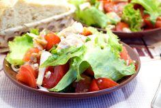 Салат с жареной курицей «Диана»