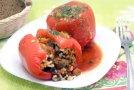 Перцы фаршированные рисом и грибами