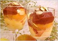 Десерт с персиками