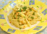 «Перья» с яйцами – рецепт приготовления простого и в тоже время очень вкусного блюда с вермишелью и яйцами. Блюдо готовится очень быстро.  Фото рецепта