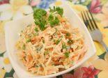 Морковный салат с яблоками и зеленым луком – Салатик за 5 минут. Все просто постругали, смешали, приправили сметаной и готово. Просто, вкусно и полезно.  Фото рецепта
