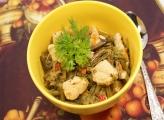 Папоротник тушеный с филе курицы – Отличный рецепт как приготовить папоротник.  Фото рецепта