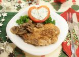 Сердце Купидона. Кулинарный рецепт приготовления куриного филе с шампиньонами.