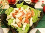 Салат «Мышке в дорожку». Кулинарный рецепт приготовления салата из помидор, сыра и листового салата.