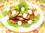 Закуска из баклажан  с моцареллой. Кулинарный  фото рецепт приготовления закуски из баклажан с моцареллой. Фото рецепта