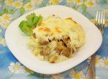Картофельное пюре под шампиньонами. Кулинарный фото рецепт приготовления картофельного пюре под грибами. Фото рецепта