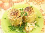 Фаршированные кабачки. Кулинарный фото рецепт приготовления фаршированных кабачков. Фото рецепта