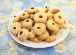 Печенюшки «Мини». Кулинарный рецепт приготовления песочного печенья с изюмом. Фото рецепта