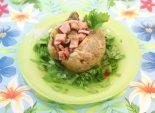 Фаршированный картофель. Кулинарный фото рецепт приготовления фаршированного картофеля в мундире. Фото рецепта