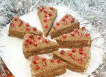 Шоколадные пирожные «Лакомка». Кулинарный фото рецепт приготовления шоколадных пирожных на Новый год. Фото рецепта