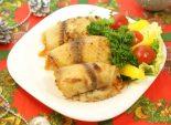 Рыбные рулеты из тилапии,  новогодние фото рецепты, рыбные рецепт на Новый год, рецепты с  рыбой, вторые блюда, рецепт блюд из тилапии, рецепт приготовления тилапии, приготовление рулетов из филе тилапии, приготовление вторых блюд из рыбы, кулинарный фото Фото рецепта