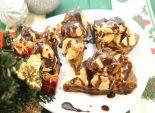 Пирожное «Новогоднее». Кулинарный фото рецепт приготовления пирожного с безе на Новый год. Фото рецепта