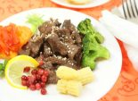 Вкус любви. Кулинарный фото рецепт приготовления говядины с брусникой и овощами на пару. Фото рецепта