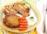 Шницель с картофельной лепешкой. Кулинарный фото рецепт приготовления шницеля с картофельной лепешкой. Фото рецепта