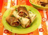 Блинчики «Болгары». Кулинарный фото рецепт приготовления блинов с мясом и перцем. Фото рецепта