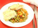 Рыба с овощами. Кулинарный фото рецепт приготовления филе горбуши с овощами.  Фото рецепта