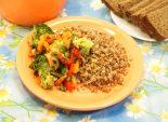 Гречка с овощами. Кулинарный фото рецепт приготовления гречневой каши с овощами. Фото рецепта
