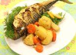 Скумбрия запеченная в рукаве с овощами. Кулинарный фото рецепт приготовления скумбрии в рукаве с картошкой и морковкой. Фото рецепта