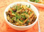 Картофель  тушеный с белыми грибами