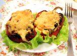Перец фаршированный брокколи и грибами. Кулинарный рецепт с фото приготовления перца фаршированного брокколи и грибами под сыром.