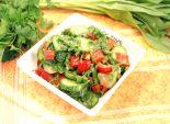 Овощной салат с горчичной заправкой. Кулинарный рецепт с фотографиями приготовления овощного салата с горчичной заправкой. Фото рецепта