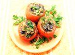 Помидоры, фаршированные баклажанами. Кулинарный рецепт с фотографиями приготовления помидор фаршированных баклажанами. Фото рецепта