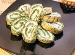 Рулет «Нечистая зелень». Кулинарный пошаговый рецепт с фотографиями приготовление рулета из шпината с сыром на Хэллоуин.
