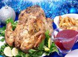 Пикантная курица с клюквенным соусом. Кулинарный пошаговый рецепт с фотографиями на новый год приготовления запеченной курицы со специями и клюквенным соусом.