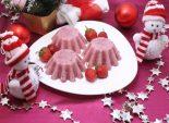 Клубнично-сливочный десерт. Новогодний пошаговый кулинарный рецепт приготовления новогоднего десерта с клубникой и сливками на новогодний стол.