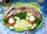 Фаршированная щука. Пошаговый кулинарный рецепт с фотографиями приготовления фаршированной щуки на новогодний стол.
