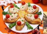 Лодочки с начинкой из тунца. Пошаговый кулинарный рецепт с фото приготовления закуски из слоеного теста с начинкой из тунца.