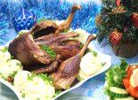 Утка запеченная в рукаве. Пошаговый кулинарный рецепт с фотографиями приготовления утки запеченной в рукаве с картофельным пюре на новогодний стол.