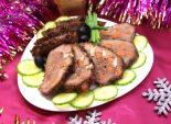 Мясо, шпигованное чесноком и морковью. Пошаговый кулинарный рецепт с фото приготовление мяса с чесноком и морковью.