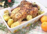 Курица с картофелем и розмарином. Пошаговый кулинарный рецепт с фотографиями приготовление курицы с картофелем и розмарином на Рождество.