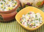 Рис с овощами и сыром «Фета». Пошаговый кулинарный рецепт с фотографиями приготовление риса с овощами и сыром «Фета». Фото рецепта